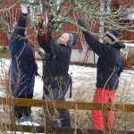 Från kurstillfället i en snöig trädgård utanför Surahammar